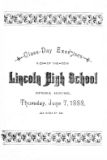 Class day exercises of the Lincoln High School