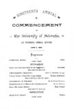 Nineteenth annual commencement of the University of Nebraska
