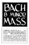 Bach B minor mass (program)