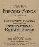 Twelve friendly songs in unison for community singing