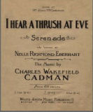 I hear a thrush at eve : serenade