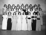 Group of North High School students in evening gowns