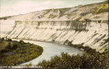 Bluffs of Niobrara River, Valentine, Neb.