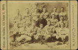 "Possibly William ""Pa"" Rourke and one of his Omaha, Nebraska, baseball teams"